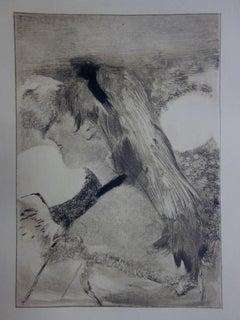 Whorehouse Scene : Blond Hair Girl - Original etching