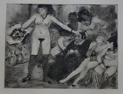 Whorehouse Scene : Celebration for Madam Mother - etching