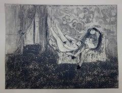 Whorehouse Scene : Couple of Prostitutes - Original etching