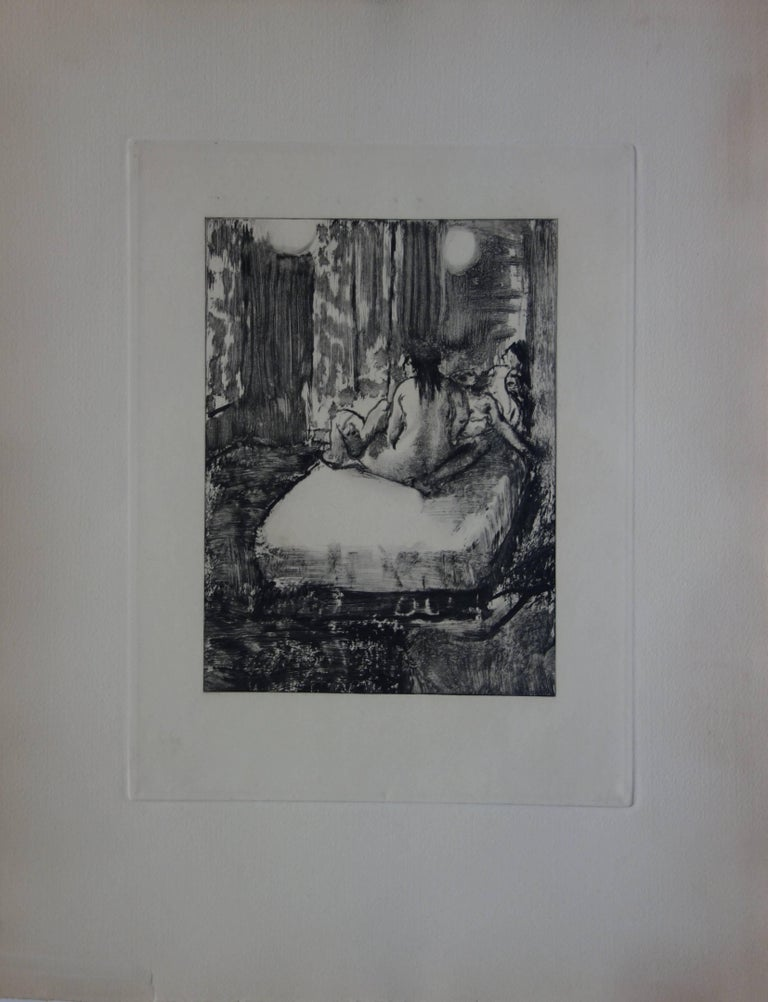Whorehouse Scene : In the Intimacy of the Room - etching - Print by (after) Edgar Degas
