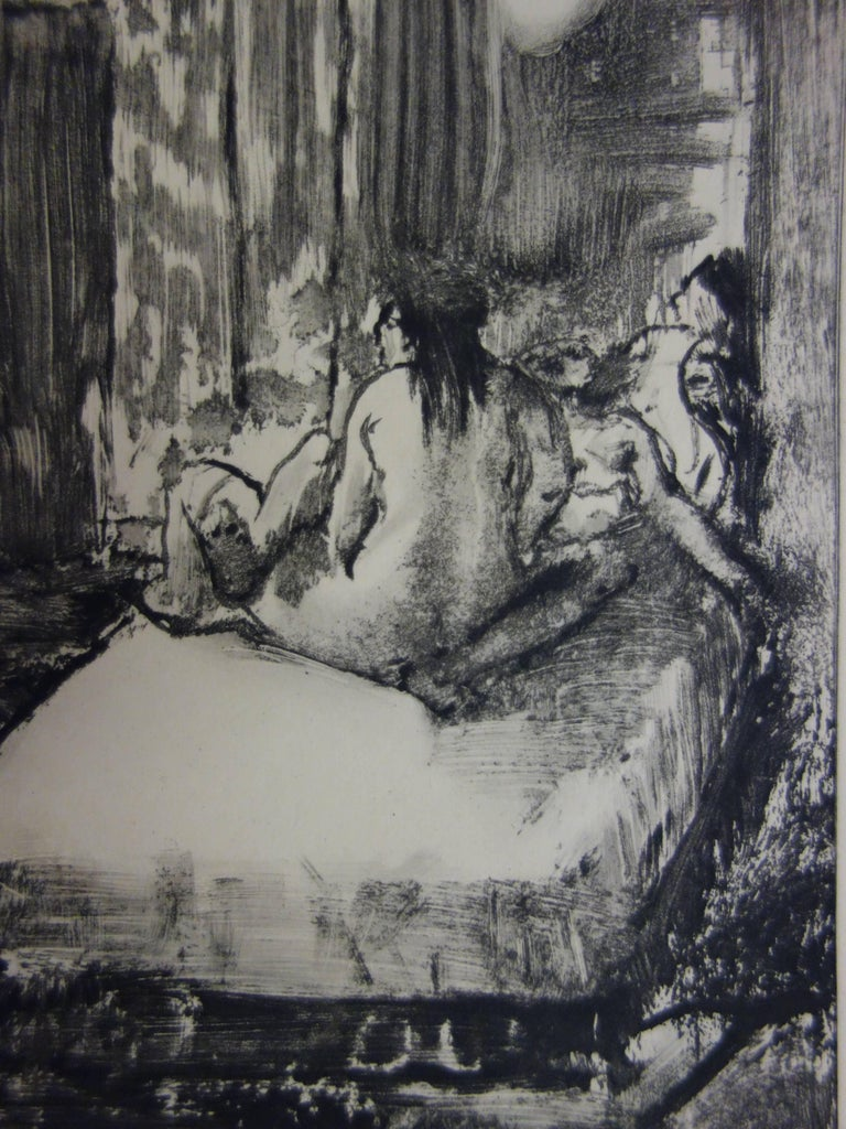 Whorehouse Scene : In the Intimacy of the Room - etching - Modern Print by (after) Edgar Degas