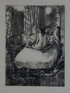 Whorehouse Scene : In the Intimacy of the Room - etching