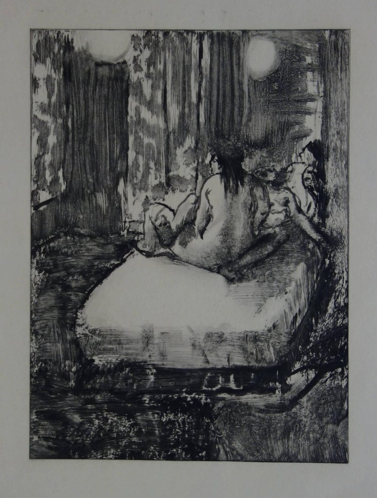 (after) Edgar Degas Figurative Print - Whorehouse Scene : In the Intimacy of the Room - etching