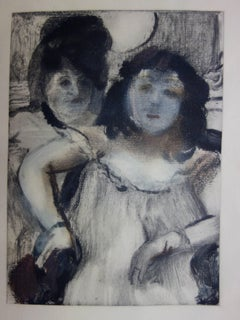 Whorehouse Scene : Prostitues with Make-up - Original etching