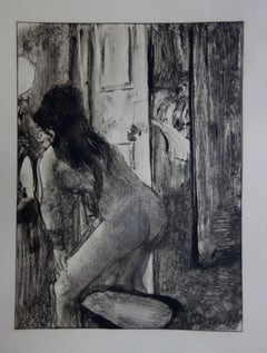 Whorehouse Scene : Prostitute in the Dressing Room - etching