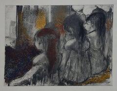 Whorehouse Scene : Prostitutes in Nightie - Original etching