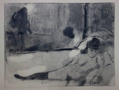 Whorehouse Scene : The Client Departure - Original etching