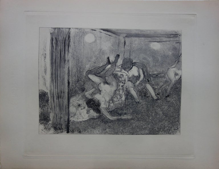 Whorehouse Scene : The Drunk Prostitutes - Original etching - Print by (after) Edgar Degas