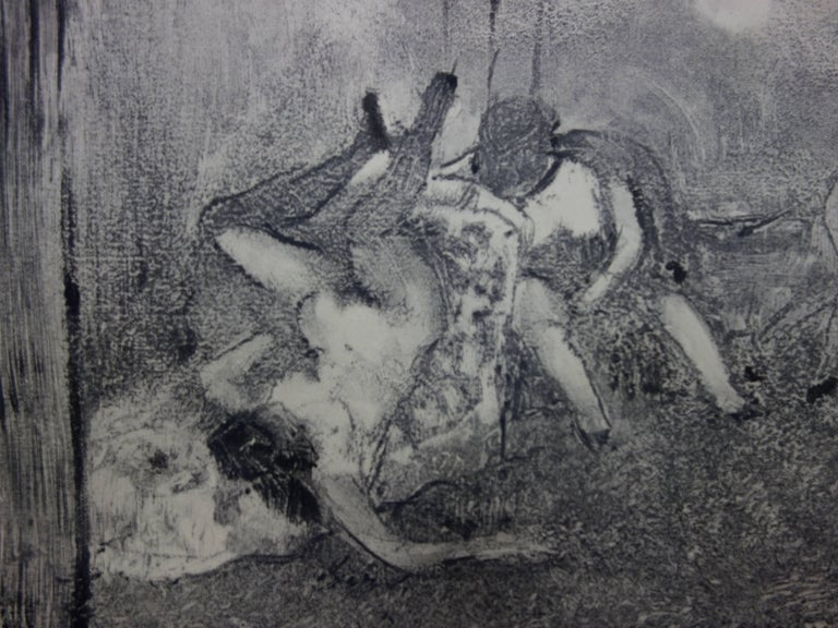 Whorehouse Scene : The Drunk Prostitutes - Original etching - Modern Print by (after) Edgar Degas
