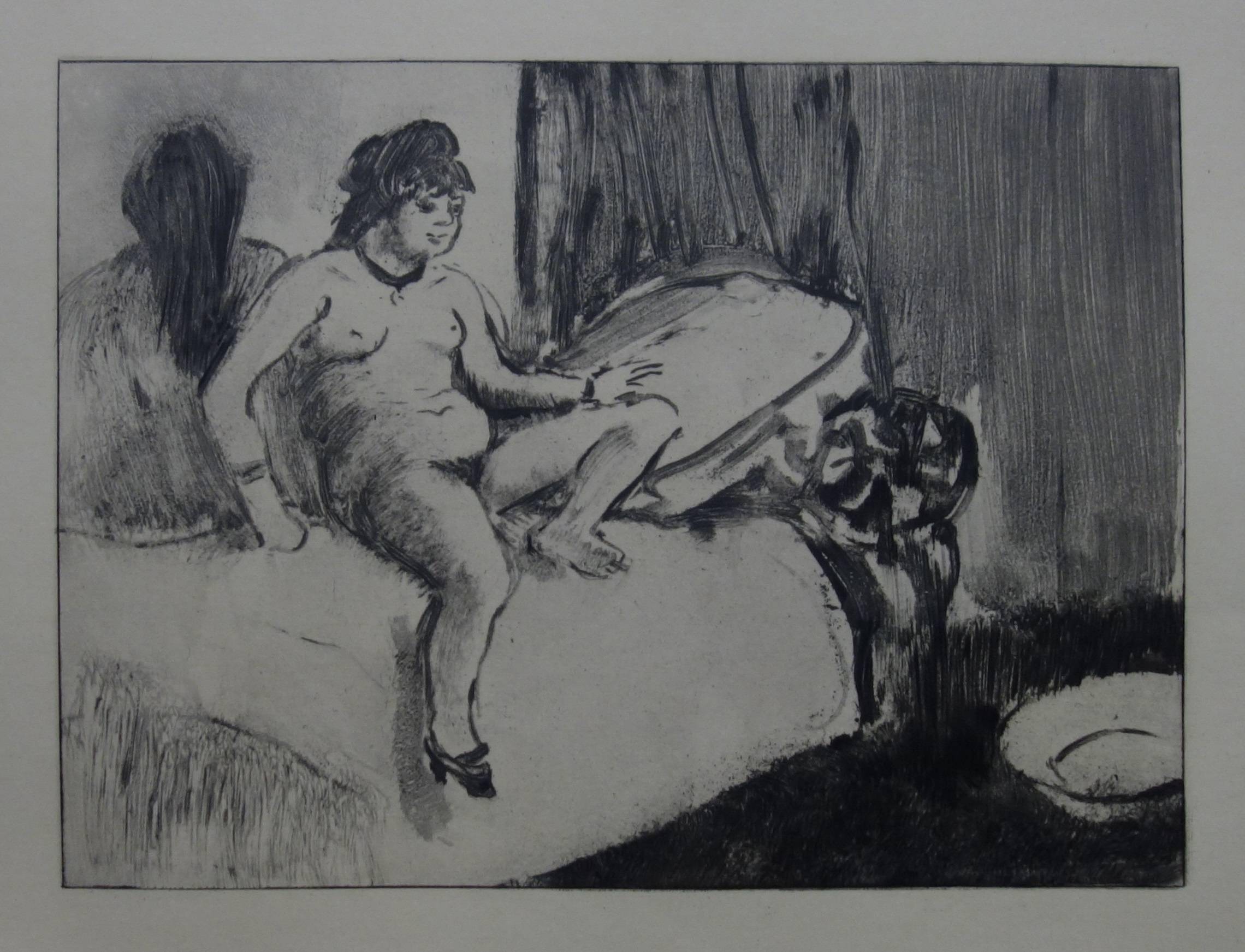Whorehouse Scene : In the Room with a Miror - Etching