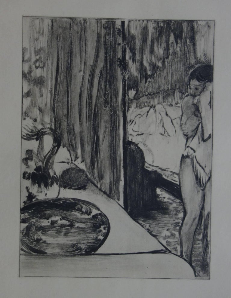 (after) Edgar Degas Figurative Print - Whorehouse Scene : The Toilet - Etching
