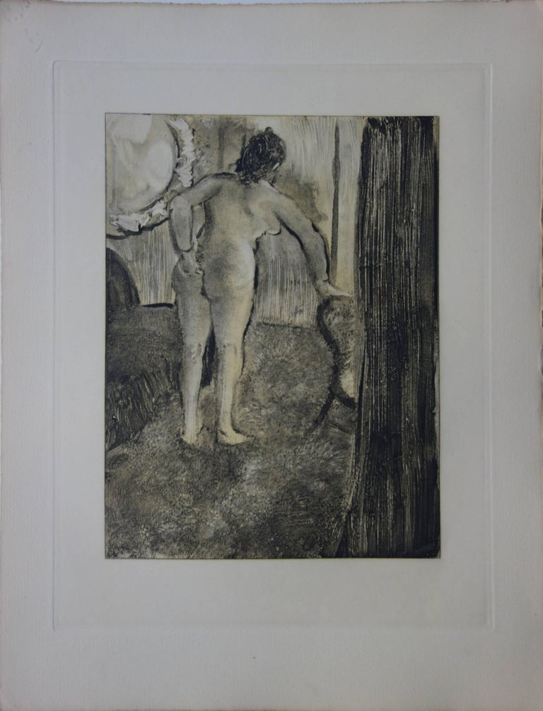 Whorehouse Scene : Waking Up After a Long Love Night - Etching - Print by (after) Edgar Degas