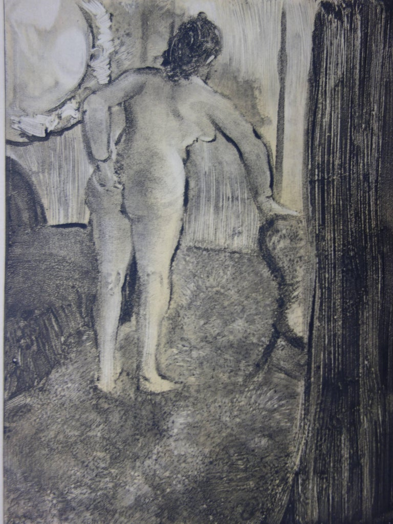 Whorehouse Scene : Waking Up After a Long Love Night - Etching - Modern Print by (after) Edgar Degas