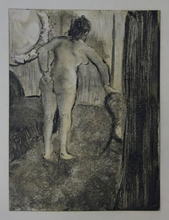 Whorehouse Scene : Waking Up After a Long Love Night - Etching