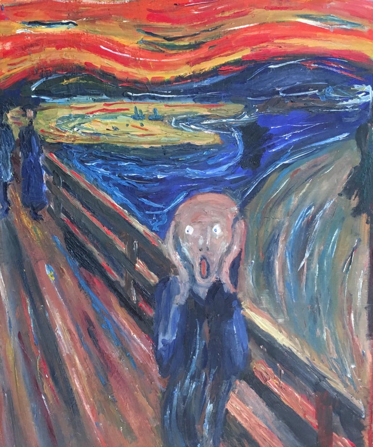 The Scream Vintage Oil Painting