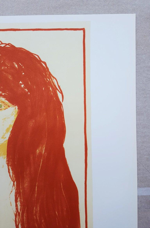 An original lithograph exhibition poster on wove paper after Norwegian artist Edvard Munch (1863-1944) titled