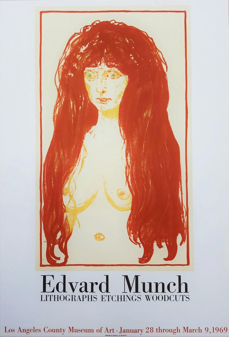 (After) Edvard Munch Nude Print - LACMA (The Sin)