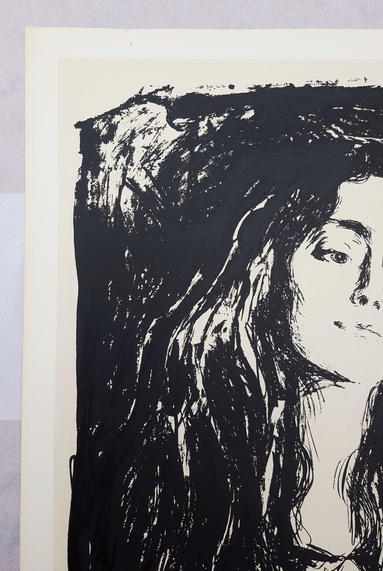 Madonna (The Brooch. Eva Mudocci) - Gray Portrait Print by (After) Edvard Munch
