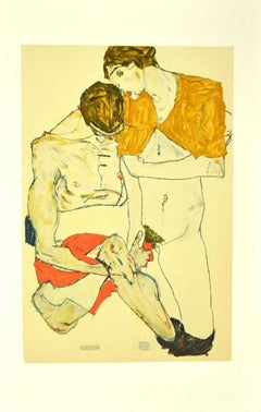 Lovers - Original Lithograph after E. Schiele - 2007