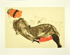 Reclining Couple - Original Lithograph after E. Schiele - 2007