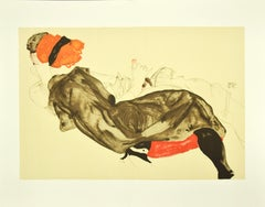 Reclining Couple - Original Lithograph After Egon Schiele
