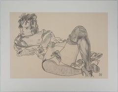 Reclining Nude - Lithograph (Kallir #2427)