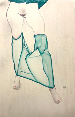 Standing Female Nude from the Waist Down - 2000s - Lithograph - Modern Art