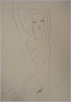 Stretching Woman - Lithograph