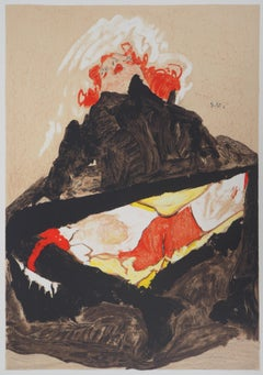 The Lady with Red Hair - Lithograph