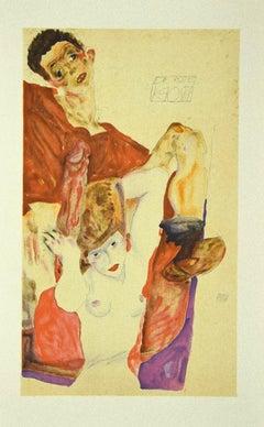 The Red Host - Original Lithograph after E. Schiele - 2007