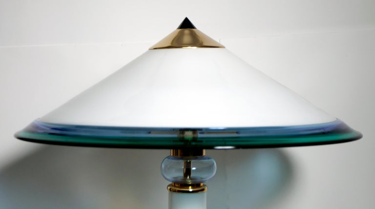 Modern After Ettore Sottsass Italian Murano Glass Table Lamp, 1980s
