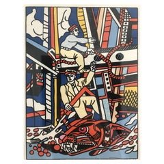 "After Fernand Léger, ""Les constructeurs"", Lithograph"
