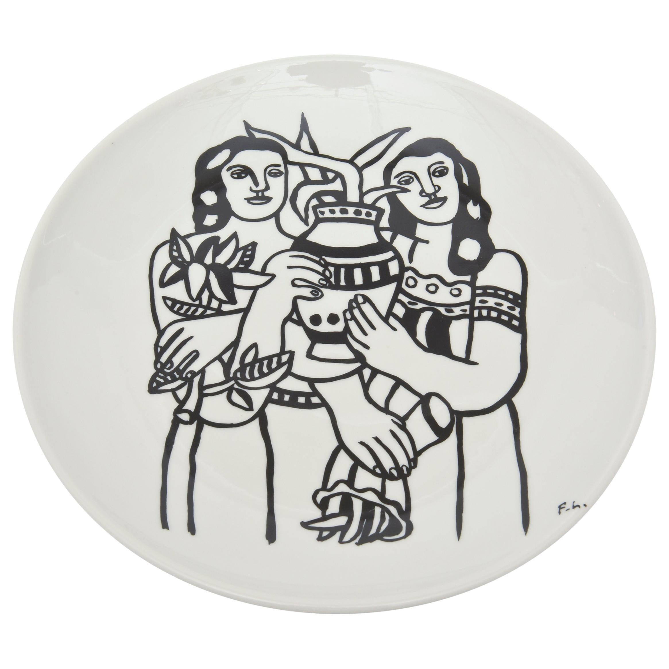 After Fernand Leger Porcelain Plate