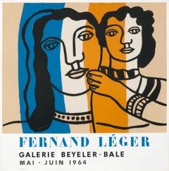 """""""Fernand Leger - Galerie Beyeler - Bale"""" Exhibition Original Vintage Poster"""