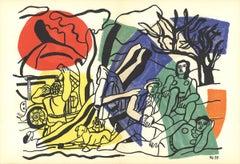 """Fernand Leger-La Partiede Campagne-15"""" x 22""""-Lithograph-1960-Modernism"""