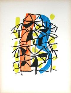 """Les Parapluies - """"La Ville"""" (after) Fernand leger, 1959"""