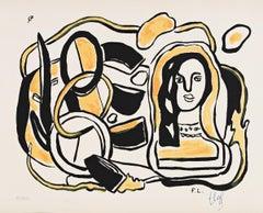Tête de Femme avec Composition
