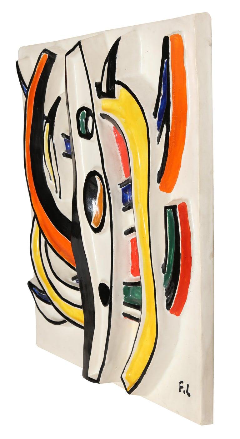 Composition Abstraite, Glazed Terracotta Plaque 1953 2