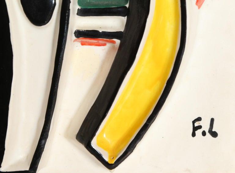 Composition Abstraite, Glazed Terracotta Plaque 1953 5