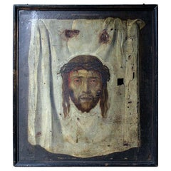 After Fetti, the Veil of Veronica, Spanish School Oil on Canvas