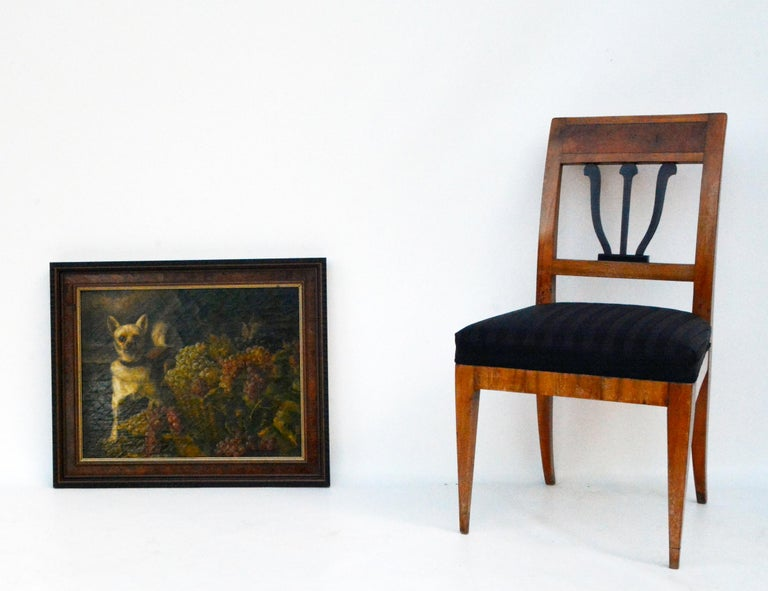 Wood After/Follower of Ferdinand Georg Waldmüller, A Dog Guarding Grapes, 1840s For Sale