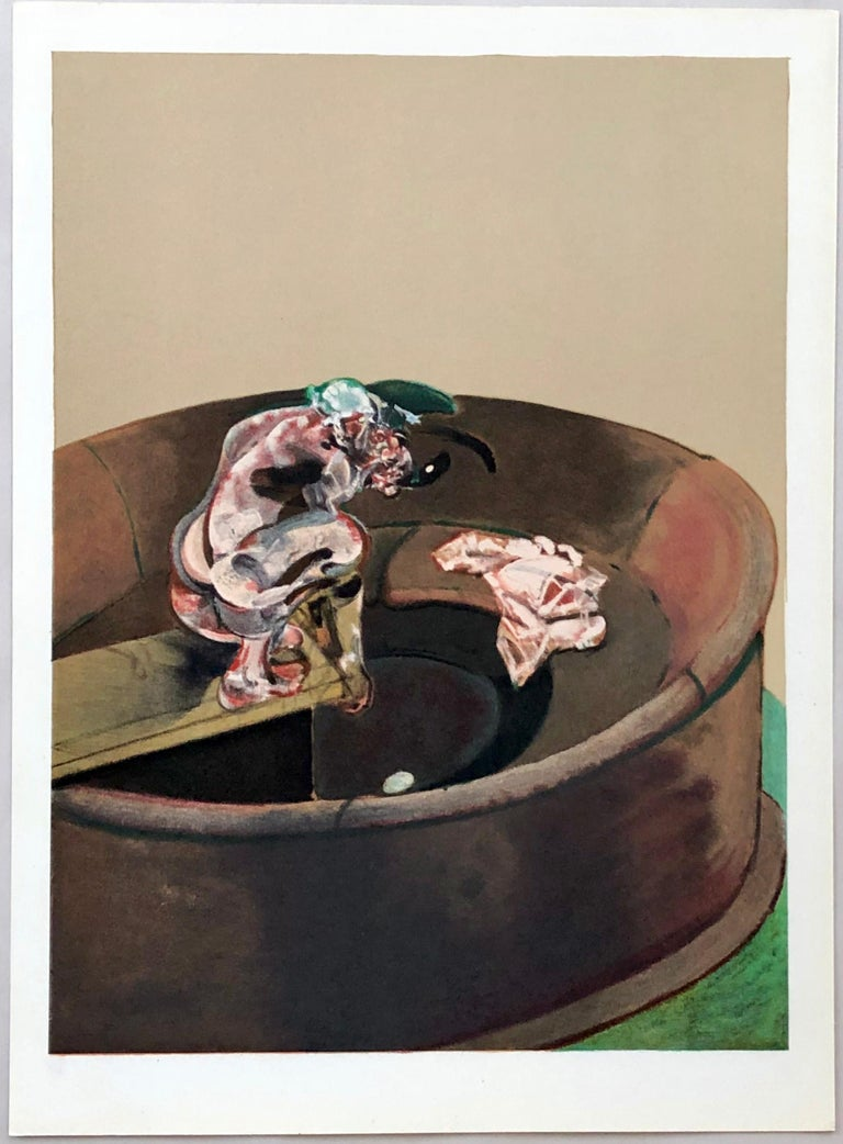 Francis Bacon Portrait of George Dyer Crouching, lithograph 1966 - Print by (after) Francis Bacon