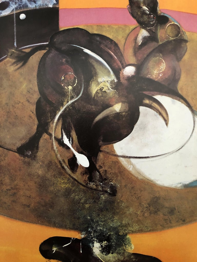 (After) Francis Bacon Study for a corrida  Poster, 1995 Printed and published by Maeght Size 86 x 50 cm (c. 33,8 x 19,7 in) Mint condition