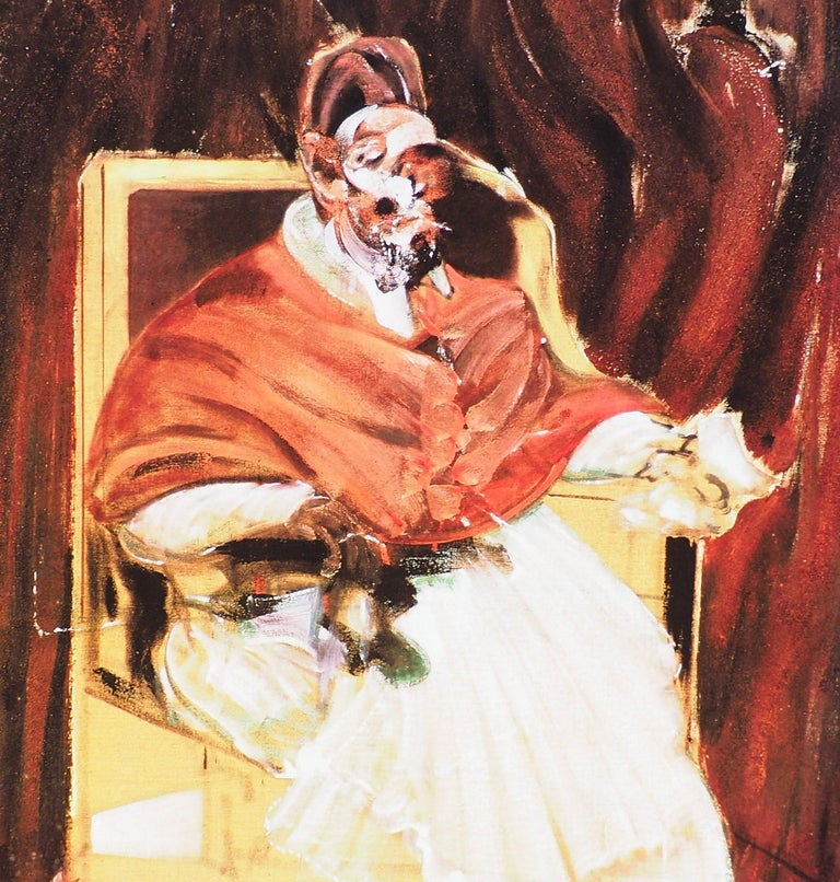 The Pope - Vintage Poster  - Brown Figurative Print by (after) Francis Bacon