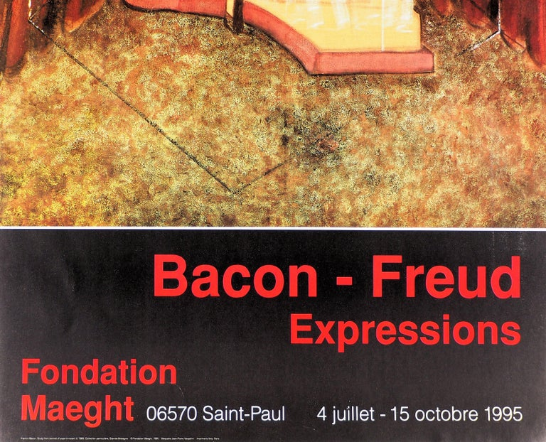 (After) Francis Bacon The Pope, 1995  Original vintage poster (hight quality offset) On heavy paper 86 x 50 cm (c. 34 x 20in) Edited by by Maeght for the exhibition 'Bacon - Freud, Expressions' in 1995  Excellent condition