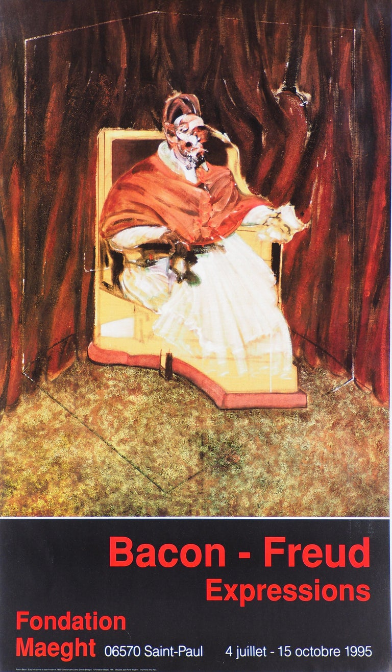 (after) Francis Bacon Figurative Print - The Pope - Vintage Poster