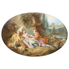 After François Boucher a French Oval Porcelain Plaque