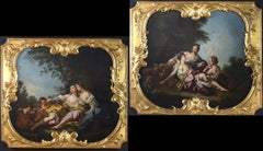Pair of Large 18' Century French Oil Paintings after Francois Bouchet