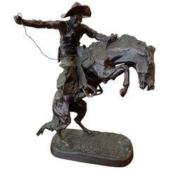 "After Frederic Remington ""Bronco Buster"" Bronze, circa 1940-1950"