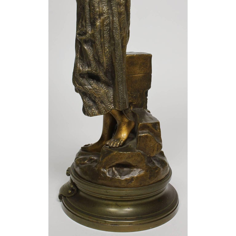 After Gaston Leroux French 19th Century Bronze Sculpture of Rebecca For Sale 4